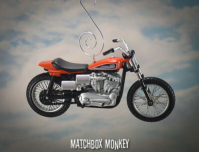 1972 Harley Davidson Xr750 Custom Ornamento Natalizio Adorno Racing Moto