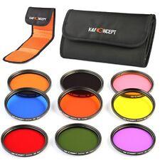 9pcs 58mm Full Color ND Lens Filter Kit for Canon Rebel T4i T3i T2i T1i 18-55mm