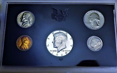 1969-S US Mint 5 Coin Proof Set with 40/% Silver Kennedy Half