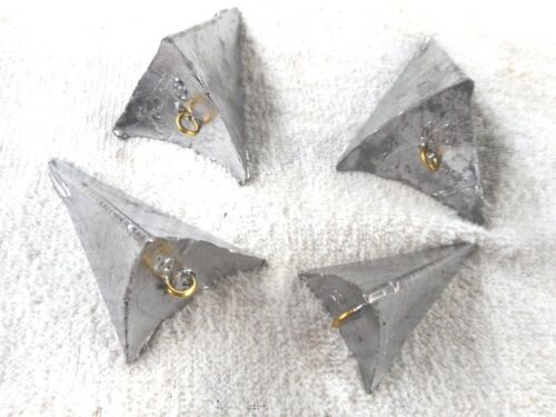Pyramid 3 sided winged fishing sinkers