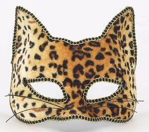 venetian masquerade half mask cat leopard