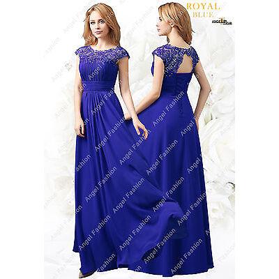 AngelFashion M03 Long Maxi Evening Bridesmaid Formal Party Prom Dress UK 8-24