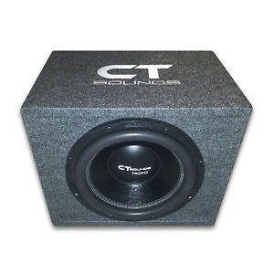 "CT Sounds Single Tropo 12"" inch 600W RMS Subwoofer Bass Package with Ported Box"