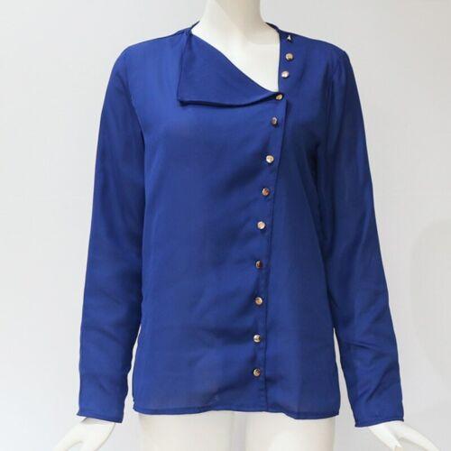 À Manches Longues Bureau Shirt Femmes Chemisier Plus Size en mousseline de soie Blouses Top Shirts Tops