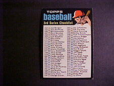 1971  TOPPS  BASEBALL   #206  CHECKLIST  3RD SERIES   EX-MT++