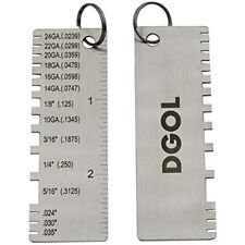 Stainless Steel Mini Portable Metal Sheet Thickness Gauge Material Wire Gage