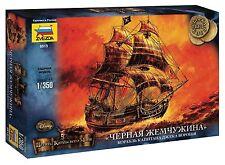 """Captain Jack Sparrow """"Black Pearl"""" ship Model Kit scale 1/350 ZVEZDA 6513"""