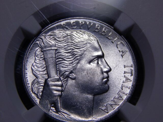 a4072f4a15 Italy 1949 5 Lire; MS 63 (NGC) 4th Finest! Woman Obv.