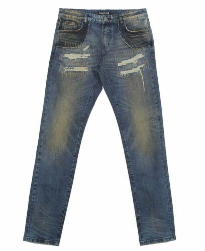 Blu Size Embellish Uomo Decorazione Jeans Scuro 38 Neil qwIf4w7