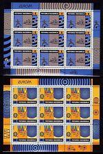 EUROPA CEPT - 2002 - Macedonia, Mazedonien - 2.Sheetlets of 9 sets ** MNH