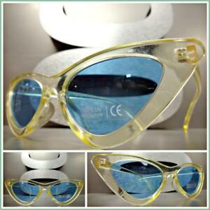 New Classy Elegant Exotic Vintage RETRO Style Clear Lens SUN GLASSES Gold Frame