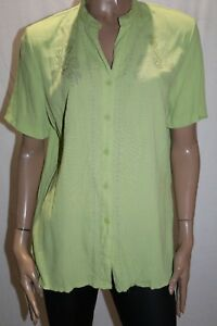 Millers-Brand-Lime-Embroidered-Short-Sleeve-Shirt-Top-Size-14-BNWT-TQ118