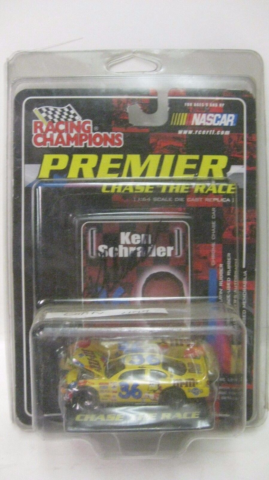 Rare Nascar Chase The Race Ken Schrader Autographed M & M 164 Diecast NEW dc1390