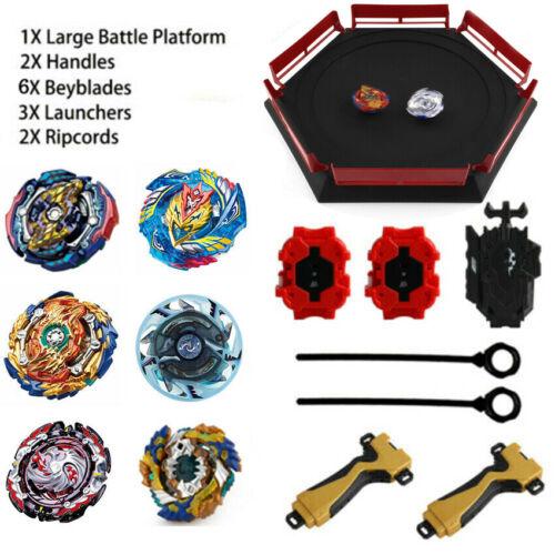 6Pcs Beyblade Burst Evolution Arena Launcher Battle Platform Stadium Toys Gift