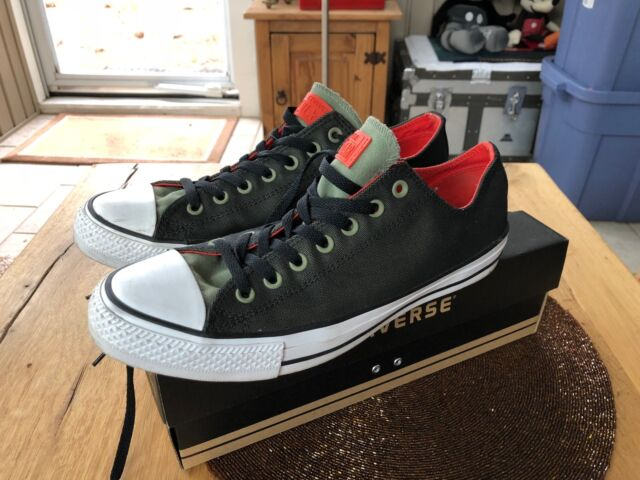 338be87e4e9e Converse Chuck Taylor All Star Ox Fatigue Green black signal Red US ...