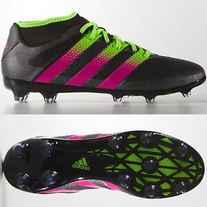 a813727a3 adidas Ace 16.2 Primemesh FG AG Mens Football Boots Black Pink ~ RRP ...