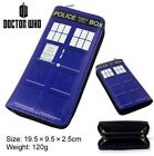 Blue Doctor Who Tardis Police Box PU Long Zip Wallet Purse Coin Bag