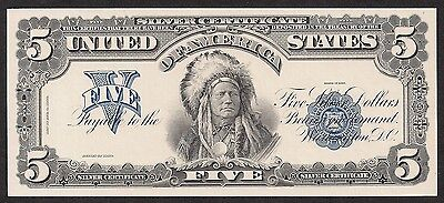 Proof Print or Intaglio by  BEP  Face of 1899 $5 Silver Certificate