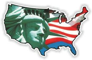 image is loading usa statue liberty sticker america united states map