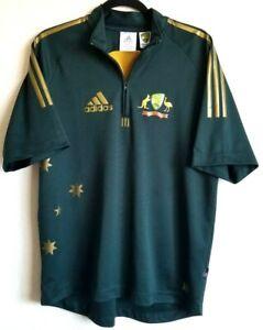 Adidas Cricket Australia Jersey Retro ODI Short Sleeve Green ...