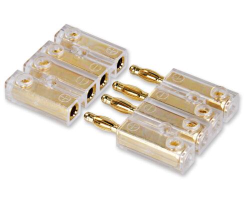Yonix ® 4 volte banane spina CONNETTORI DORATO connettore fino a 6mm² bsy-384