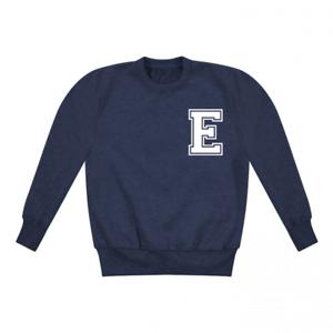 Personalised Varsity Initial Toddler Sweatshirt Fashion Boys Girls Top Custom