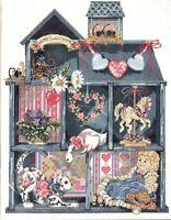 Needlepoint Kit Dollhouse Shadowbox Doll Floral Cat Carousel Horse Candamar 1990