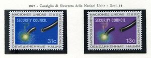 19141-UNITED-NATIONS-New-York-1977-MNH-Security-Council-2v