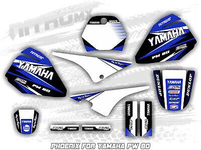 Pw80 Swingarm Airbox Yellow Decal Stickers Pw 80 Dirtbike ATV Quad Racing Mx Graphics