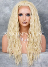 Pale Blonde Spanish wavy HEAT SAFE Lace Front wig Curly  NUO 613
