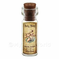 Dolls House Apothecary Scaly Urchin Fungi Bottle And Colour Label