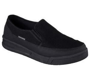 e2eb46c4a06f9 77096 Black Skechers shoes Work Men's Sporty Comfort Mesh Slip On ...