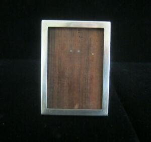 Vintage-Sterling-Silver-3-034-x-2-034-Frame-with-Teak-Easel-Back-No-Glass