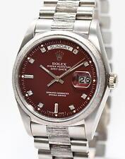 original Rolex Day Date Stella Dial Rarität Gold Ref.18079 Fullset Weißgold B...