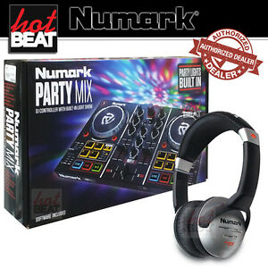 Details about Numark PartyMix DJ Controller Party Mix Built-In Lights +  Numark HF125 Headphone