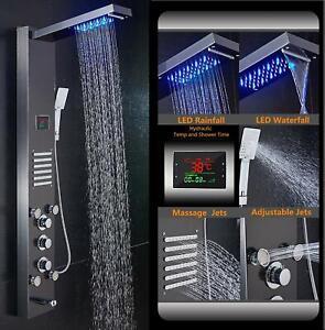 ELLO-amp-ALLO-Rainfall-Waterfall-Shower-Panel-Tower-Rain-Massage-System-Body-Jet