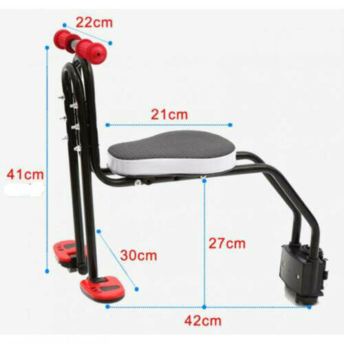 Kids Bicycle Chair Baby Safety Bike Front Seats Toddler Child Seat+Foot Pedal US