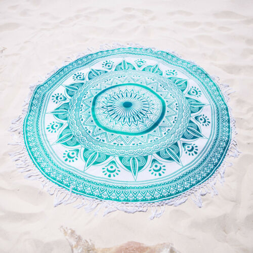 Ombre Hippie Round Mandala Tapestry Indian Wall Hanging Beach Throw Yoga Blanket