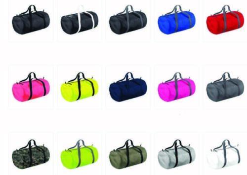 Foldable Holdall Gym Sports Travel Duffle BagBase Packaway Barrel Bag BG150