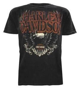 Harley-Davidson-Men-039-s-Muted-Eagle-Premium-Short-Sleeve-T-Shirt-Black-Wash