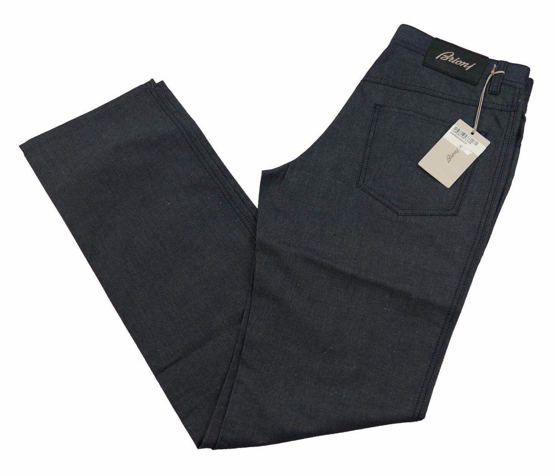 Brioni Livigno Jeans Handmade in  BNWT Luxury Dark Blau Denim Größe 34