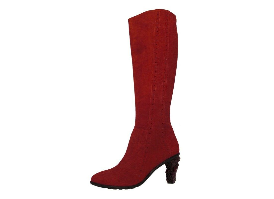 Lisa Tucci Roter Leder Stiefel Rosso aussergewöhnlich Amantea Goat Rosso Stiefel Schuh rot ddaa62