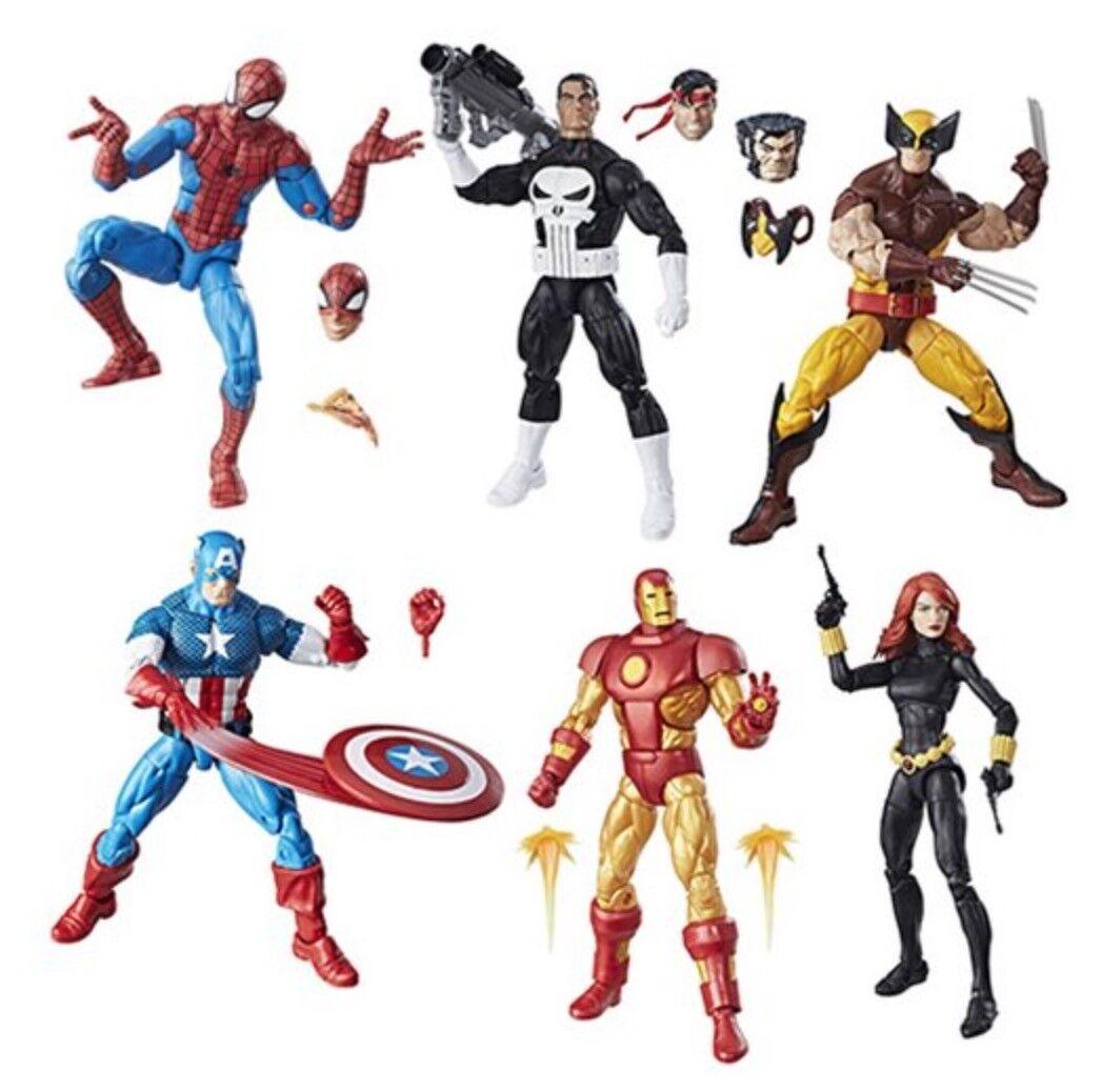 HSC3994A  Marvel Legends Super Heroes Vintage 6-Inch Figures (Set of 6)