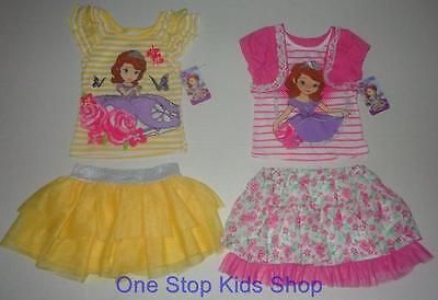 SOFIA THE FIRST Girls 4 5 6 6X Set OUTFIT Shirt Top Skort DISNEY Princess