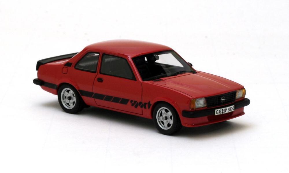 Opel Ascona B 2-door Sport  rouge  1980 (Neo Scale 1 43   45800)