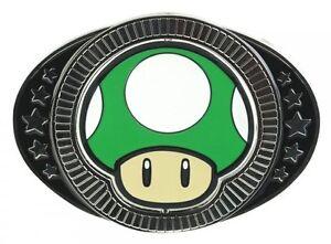 Nintendo-MUSHROOM-BELT-BUCKLE-Super-Mario-1-Up-Game-64-ds-3ds-wii-wiiu-Men-Women