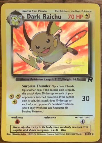 Pokemon Team Rocket Rare Holo cards Dark Charizard Blastoise Alakazam you Choose