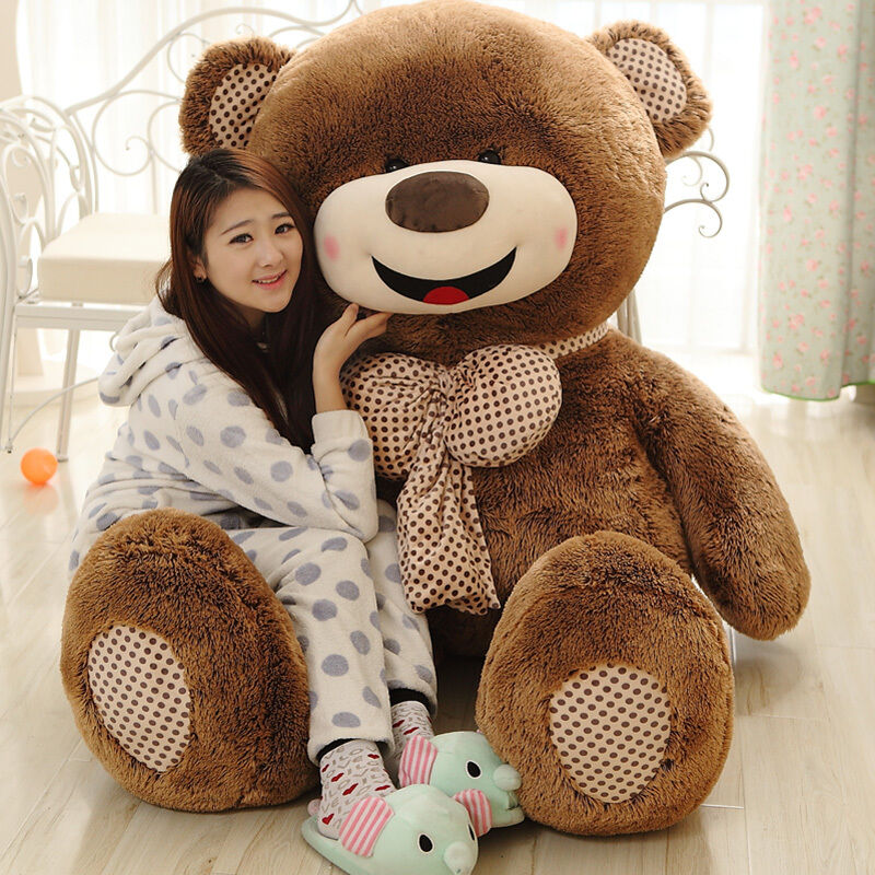 Nuovo 72  Giant Big Teddy Bear Plush Soft Doll Pillow Toy With Zipper  Only Cover