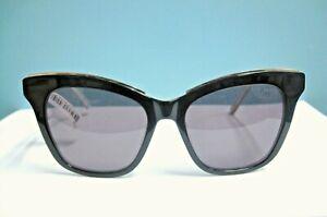 187ef306931df Ted Bake TBW036 BLK Black Ivory Frame ~Gray Lens Cat Eye Sunglasses ...