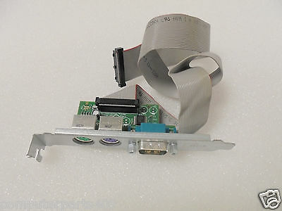 NEW Dell F743C Serial Port PS/2 Add In Card N3563 Cable for Optiplex 740 745 MT